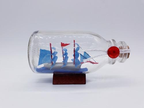 barco na garrafa caravela veleiro madeira decorativa