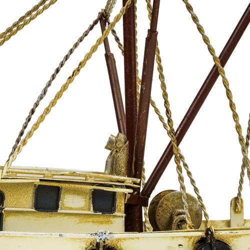 barco pesqueiro de metal decorativo alta qualidade luxuosa