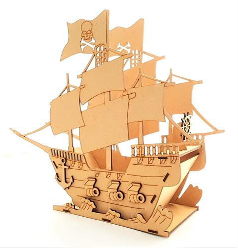 barco pirata 3d mdf centro de mesa bpg se puede personalizar