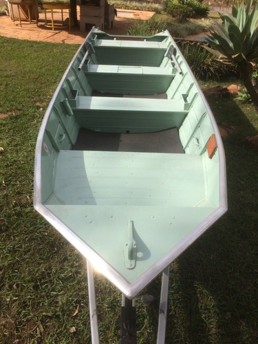 barco rebitado 5,50m, motor 25hp sea pro mercury, carreta