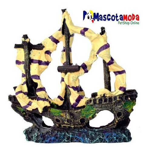 barco velero antiguo para acuarios pequeños y peceras