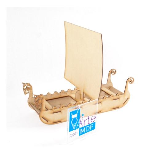 barco vikingo 6 piezas  para adorno centro de mesa candy bar