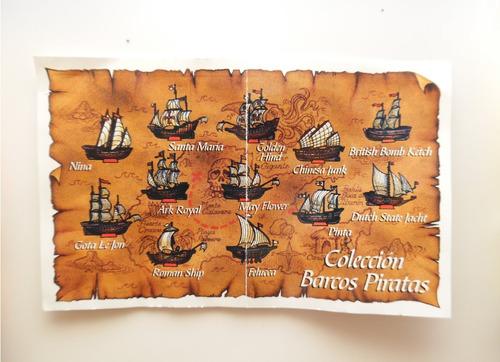 barcos armables piratas ricolino twinky colección completa