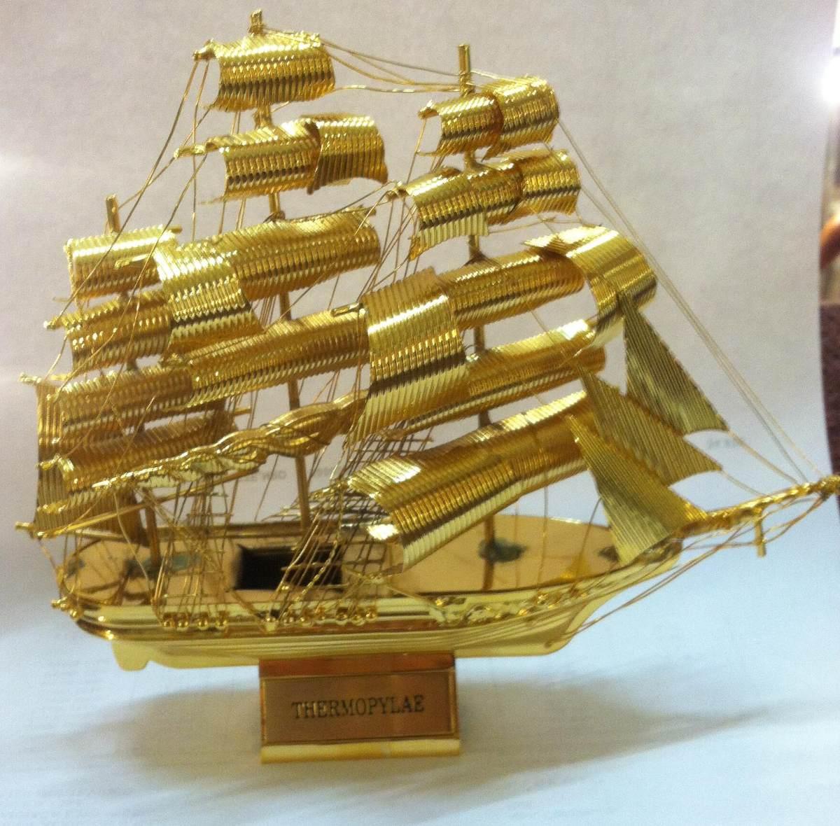 Barcos dorados metalicos bronceados decoracion adorno for Bazar del cocinero
