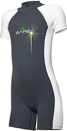 bare sprint shorty wetsuit para niños pequeños y niños, gris