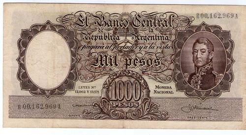 barese2013 bottero 2145a billete reposicion $1000 m/n