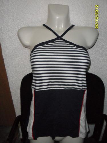 bari collection blusa hatler rayas estilo marinero c/algodón
