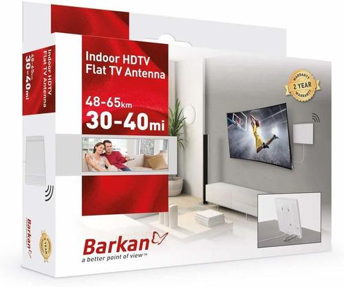 barkan af40p - antena de tv plana hdtv para interiores (4
