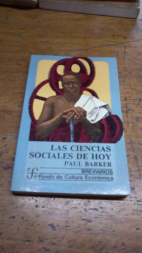 barker - las ciencias sociales de hoy