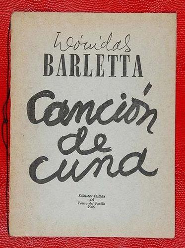 barletta, leónidas - canción de cuna - primera edicion