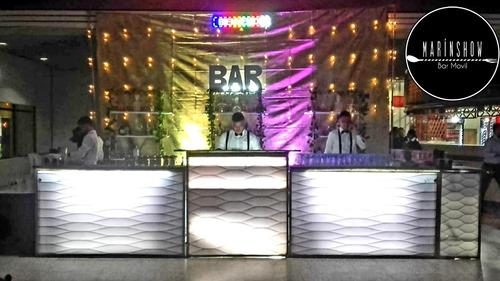 barman cocteles fiestas eventos bartender bar móvil show bar