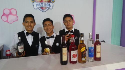 barman, meseros/as, parrilleros, eventos.