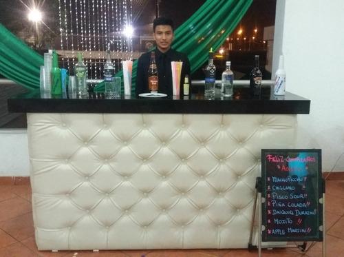barman;bartender,mozos, alquiler barras moviles;a domicilio