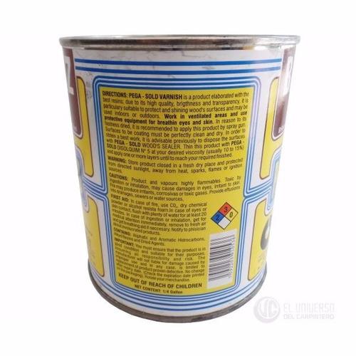 barniz brillante pega sold de secado rápido 1/4 de galón