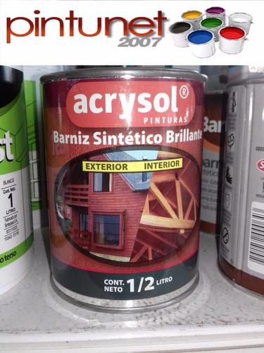 barniz sintetico acrysol int/ext x 1/2 lts