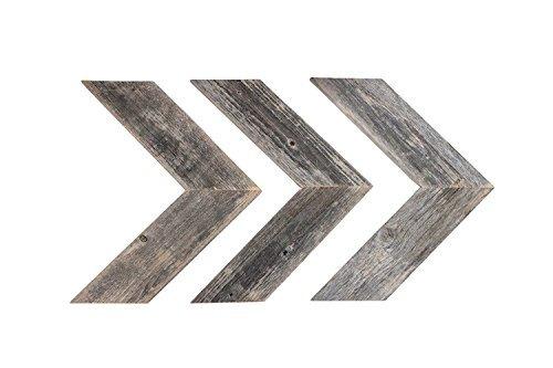 barnwoodusa rústico chevron decorativas flecha conjunto de
