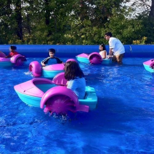 barquito bote de remo kids boat para piscinas y piletas