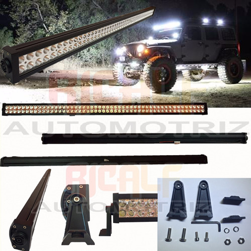 barra 100 led 300w 52 pulgadas jeep motos razor 4x4 off road