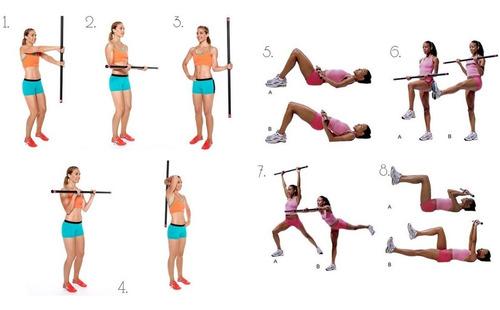 barra aerobica con peso importada 5kg pesas yoga