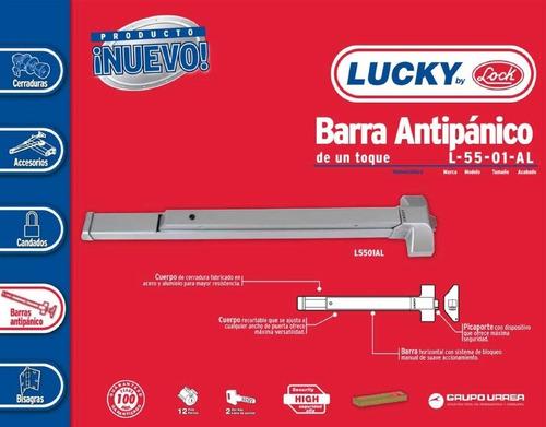 barra antipánico de toque 1 punto lock l5501al