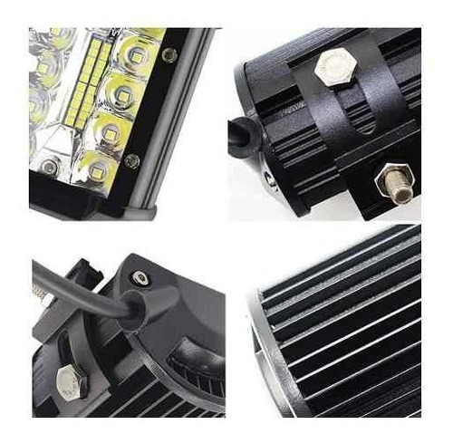 barra auxiliar proyector 120w spot + flood 40 led off road