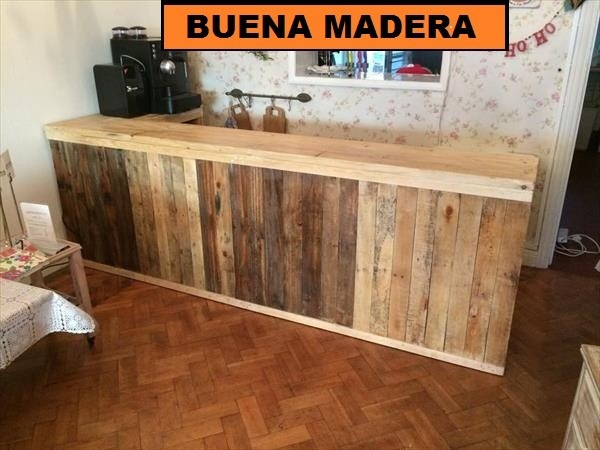 Barras de madera para bar latest podemos adaptarla al - Barra bar madera ...