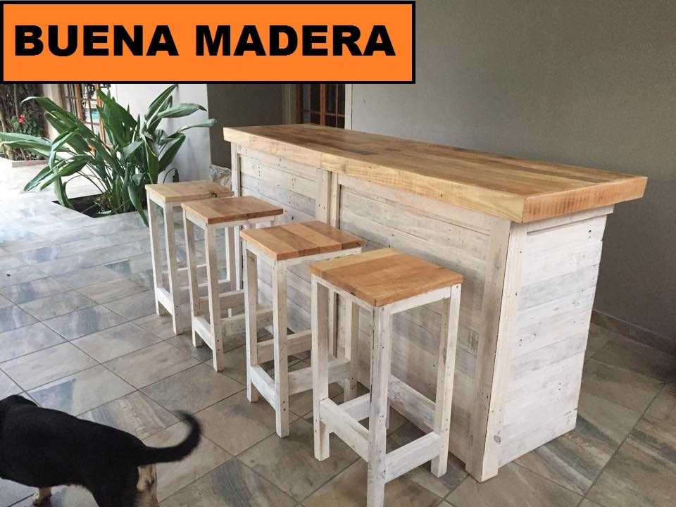 Barras de madera para bar top barra de bar metros with - Barra bar madera ...