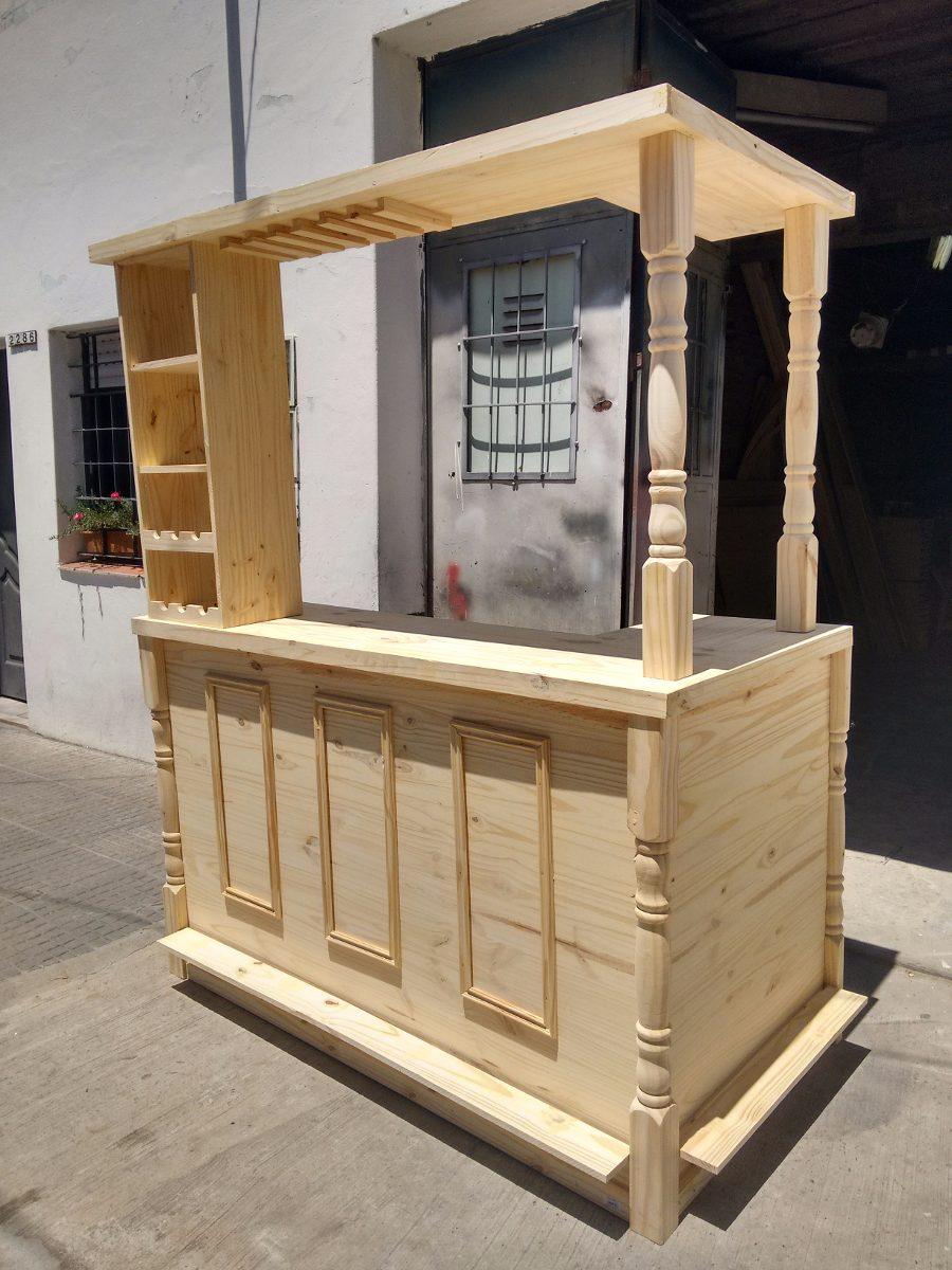 Barra Bar Mueble Desayunador Madera Pino Premium 5 500 00 En  # Muebles Podesta