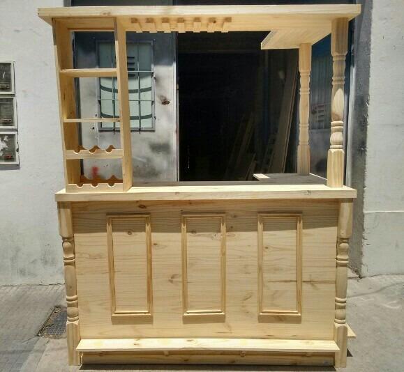 Barra Bar Mueble Desayunador Madera Pino Premium Pinetech - $ 5.500 ...
