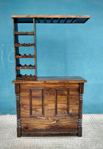 barra bar mueble desayunador madera pino premium pinetech
