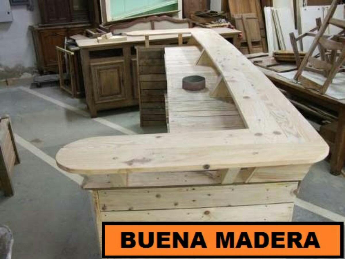 Barras de bar rusticas fabulous detalle barras de bar de - Barras de madera para bar ...
