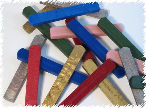 barra / bastão para lacres de cera - carrenho design