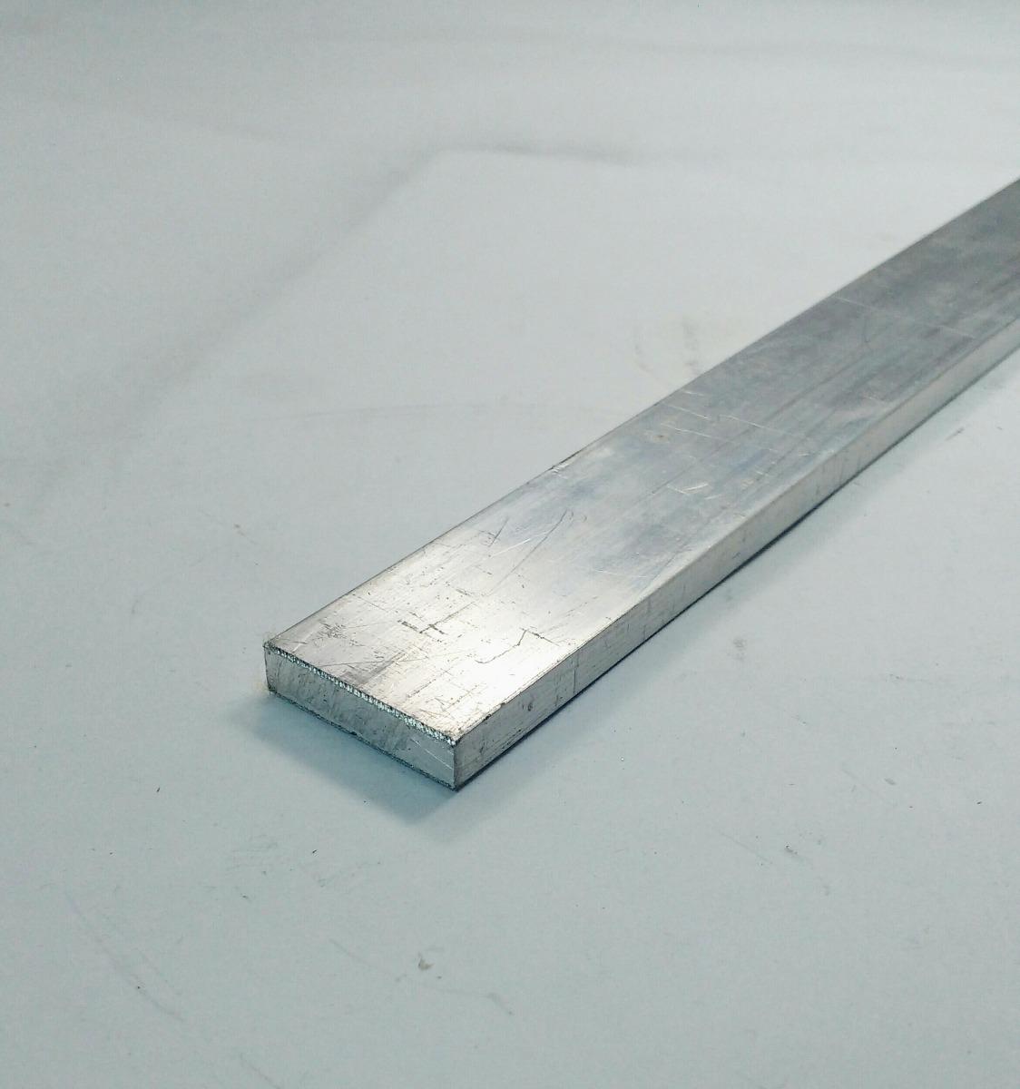 Barra chata aluminio 1 x 1 4 2 54cm x 6 35mm c 1mt r - Barras de aluminio huecas ...