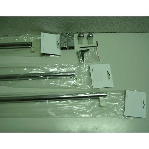 barra cromada para colgar de 60 cm de largo!