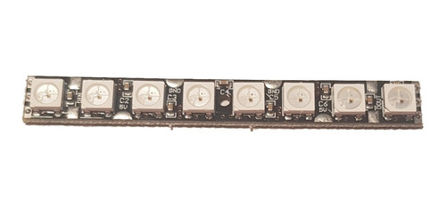 barra de 8 leds rgb endereçavel ws2812 - arduino