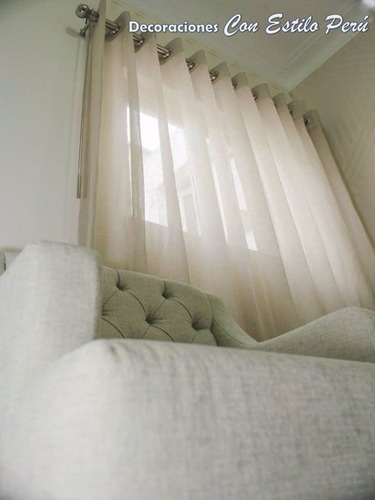 barra de acero para cortinas departamento casa