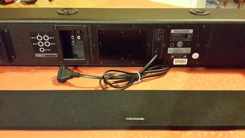 barra de audio microlab para tv como nueva, poco uso