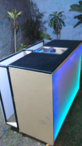 barra de bar movil, venta - renta con luces