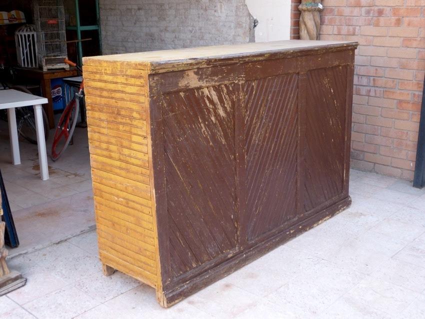 Barra de cantina antigua madera de machimbre ca 1900 for Barras para cantina