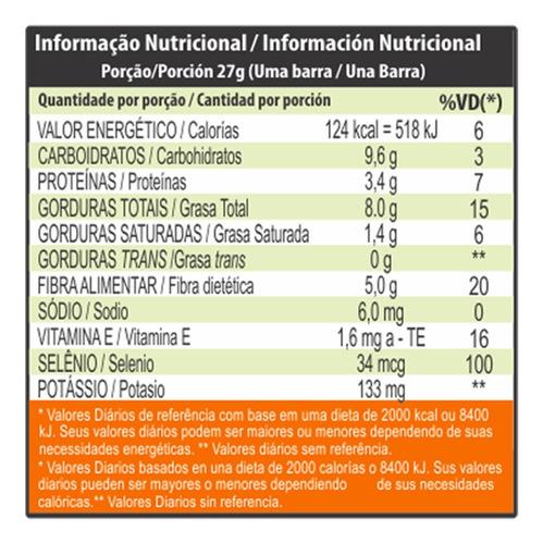 barra de cereal amêndoas com uva passa 48 x 27g - probene