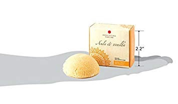 barra de champú sólido - amla y vainilla - para cabello no