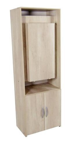 barra de cocina con mesa plegable tipo desayunador o escritorio y espacio despensero de guardado - 1428