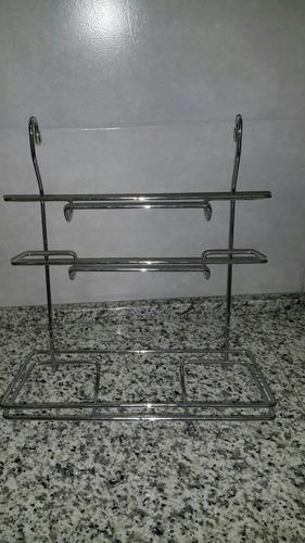 barra de cocina más accesorio porta rollo  nuevo
