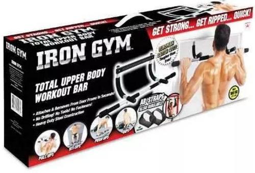 barra de ejercicios iron gym - bíceps tríceps pectorales