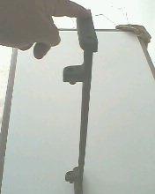 barra de ferro fundido do pé de máquina manual de costura