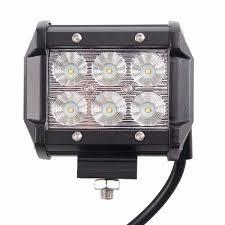 barra de halogenos led para carro (par) 18w