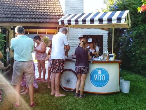 barra de helados movil - eventos - casamientos - cumpleaños