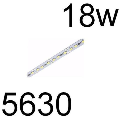barra de led  5630 smd bf 12v 1,00mt 72 leds aluminio 18w