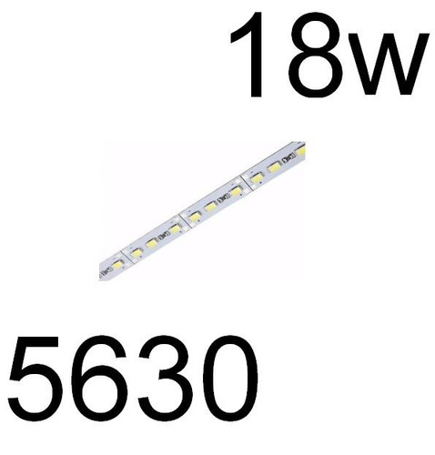 barra de led  5630 smd bf 12v 1mt 72 leds aluminio 18w jf02