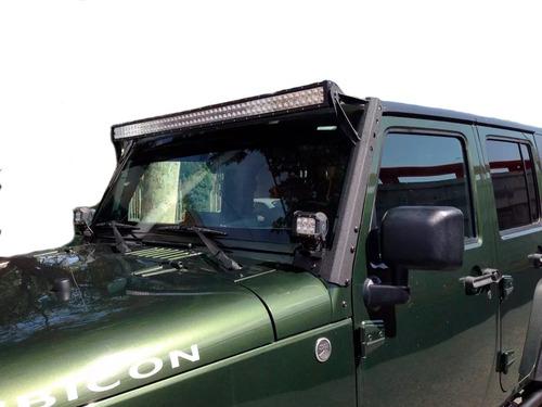 barra de led bases y faros 4 pulg jeep wrangler tj jk 97-18